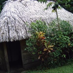 hutjes op campsite van Lacandonen-village