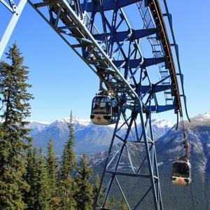Kabelbaan boven Banff