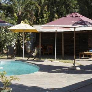 Poolside near the bar@ Lusaka Backpacker's Lodge
