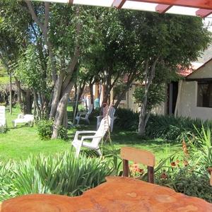 Gezellige tuin van La Casa de Santiago