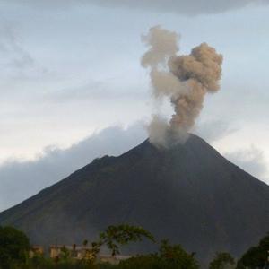 uitbarsting van Arenal-vulkaan