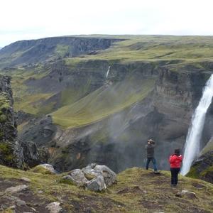 Haífoss in Þjórsárdalur, nabij de Hólaskógur hut